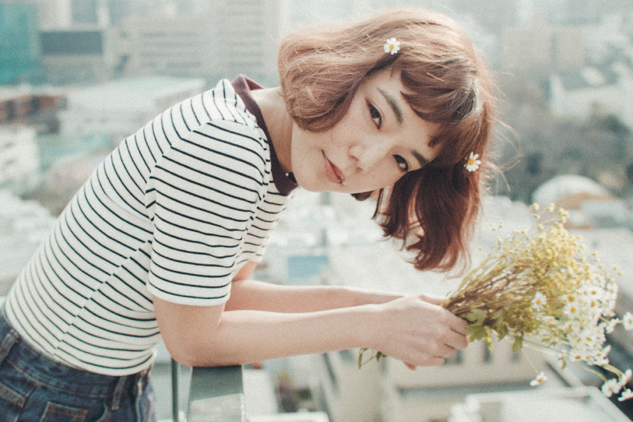 She magazine 連載「私とわたしとワタシ「私と花」vol. 01_01」